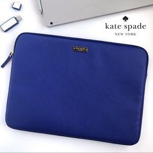 "Kate Spade Blue Saffiano 13"" MacBook Sleeve"